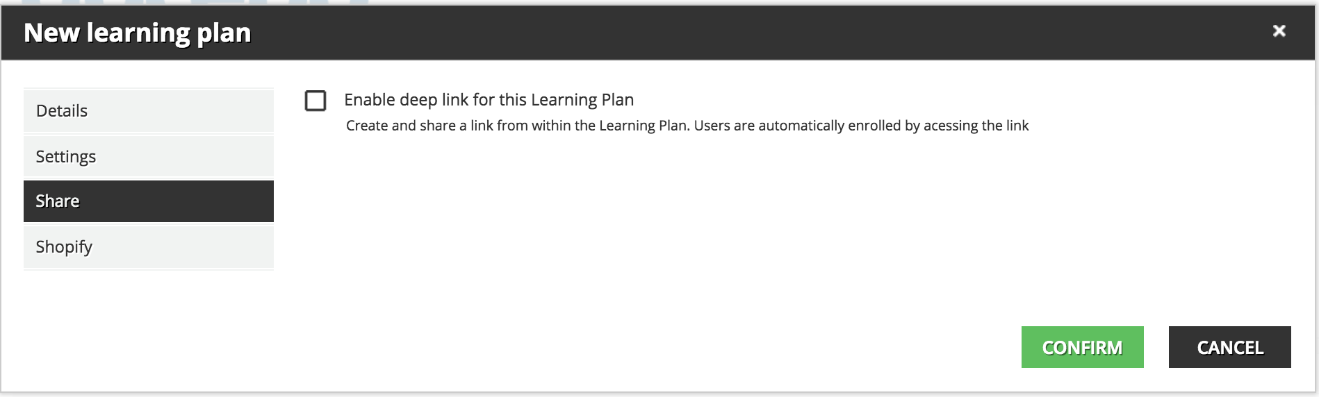 learning plan share