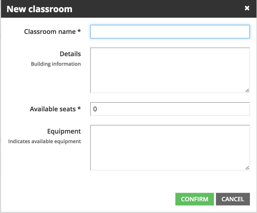new classroom info