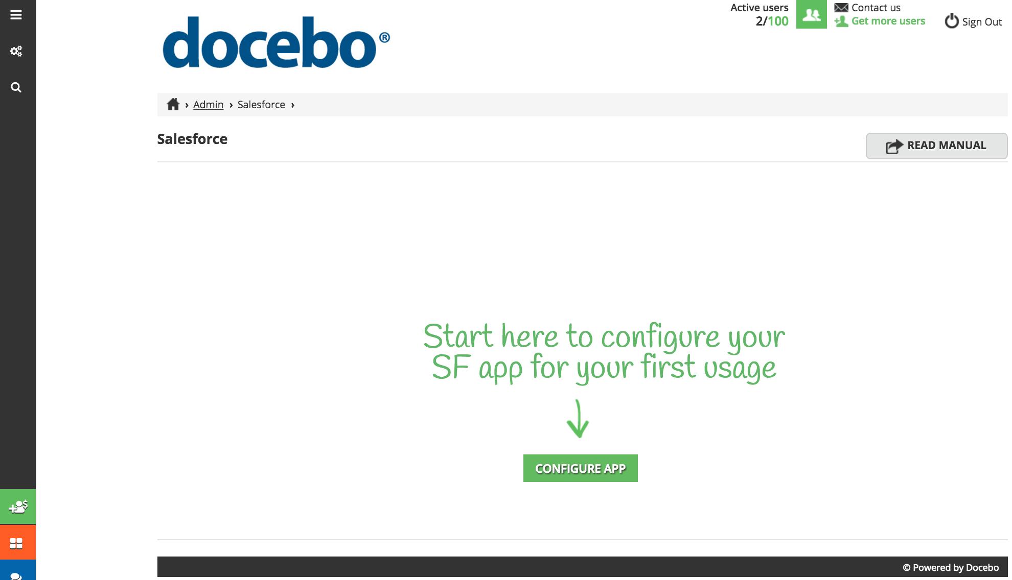 configure app buton