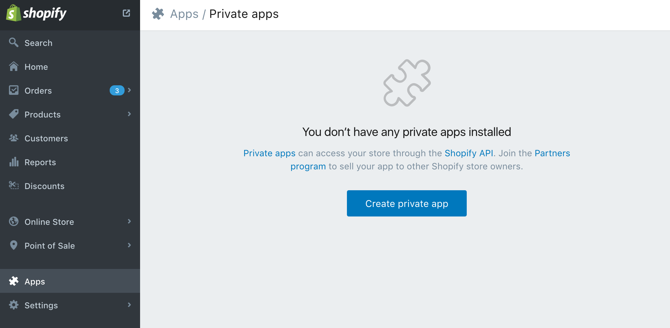 create private app