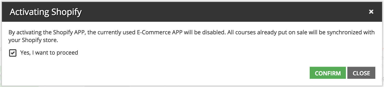 disable ecomm message